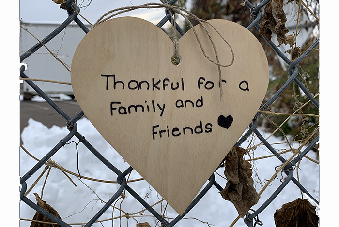 Thankful for a family and friends.